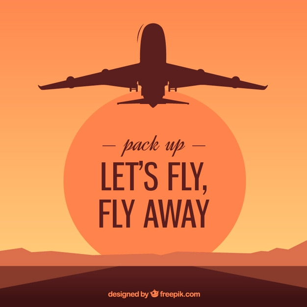 Let's fly, fly away Free Vector