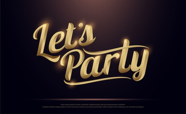 premium vector let s party golden logo https www freepik com profile preagreement getstarted 2193861