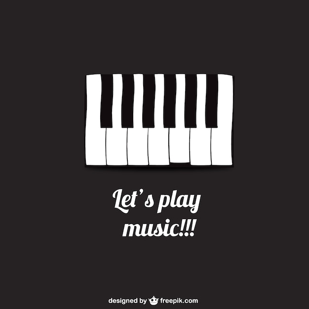 Lets Play Music Poster Free Vector