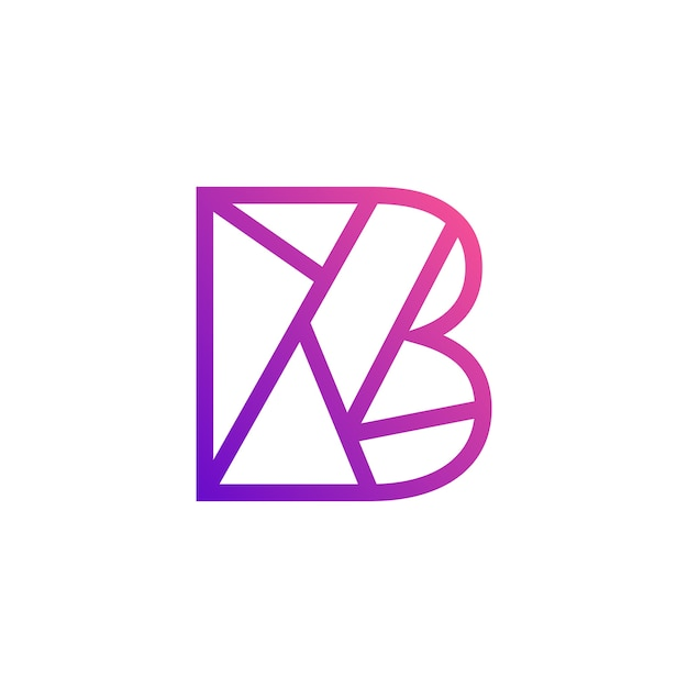 Letter b alphabet icon design vector premium download for B b design