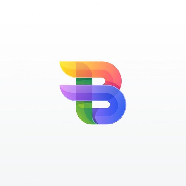 Буква b красочный Premium векторы