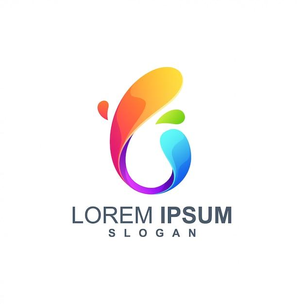 Letter b logo design color full Premium Vector