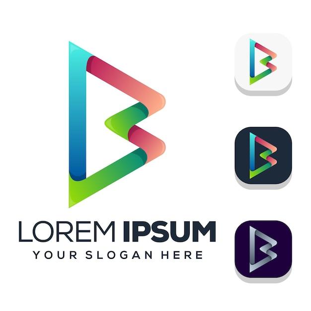 Шаблон логотипа буква b Premium векторы