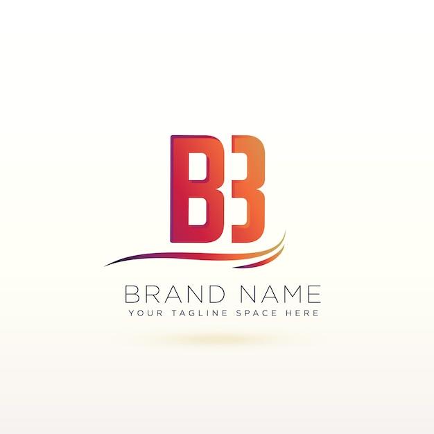 letter b logo vector free download