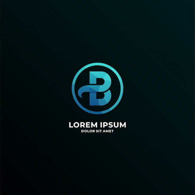 Letter b logotype Premium Vector