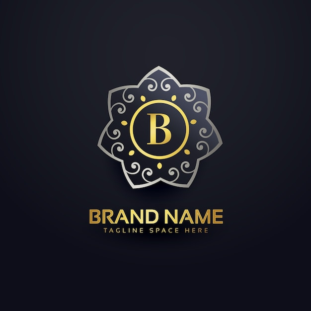 Letter b luxury logo Free Vector