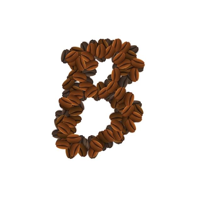 커피 알갱이의 편지 b 무료 벡터