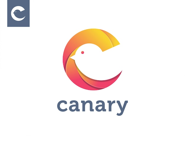 Letter c for canary logo template Premium Vector