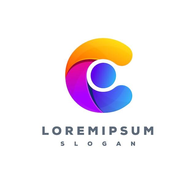 Letter c colorful logo design Premium Vector