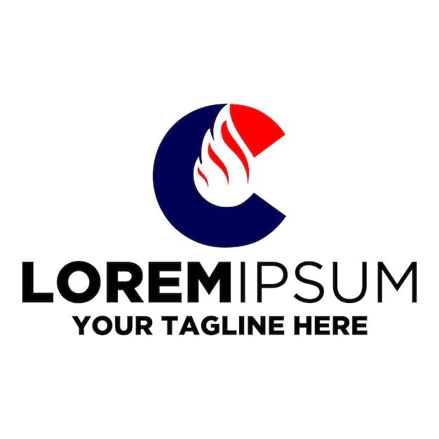 Letter c flare logo Premium Vector