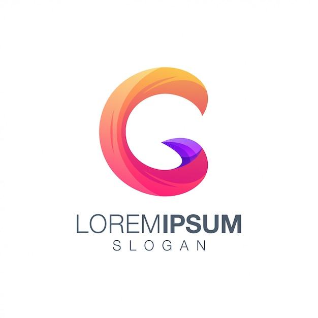 Letter c gradient color logo template Premium Vector