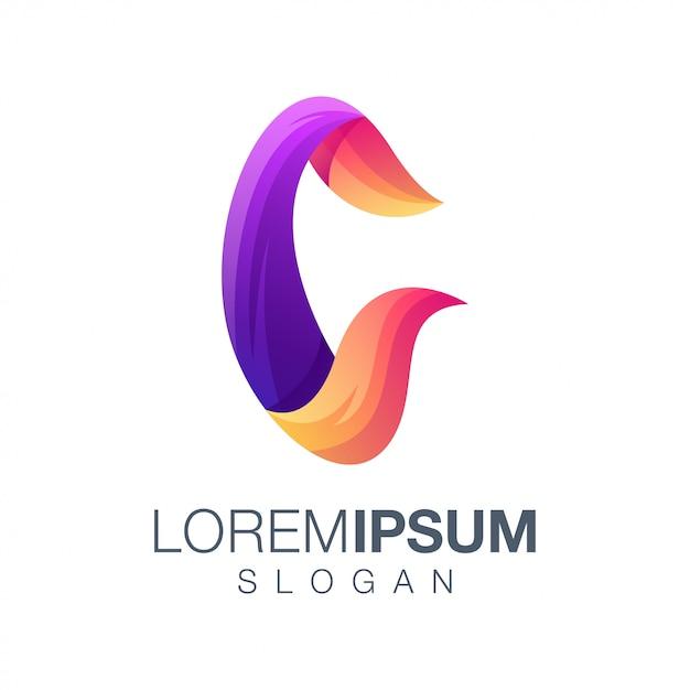 Letter c gradient logo Premium Vector