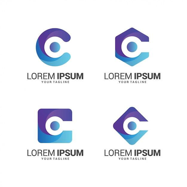 Letter c logo collection Premium Vector