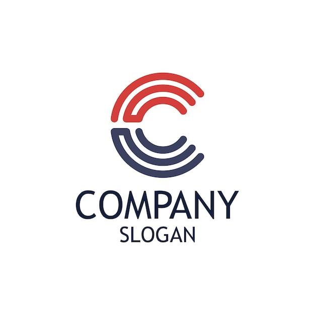 Letter c logo design Premium Vector