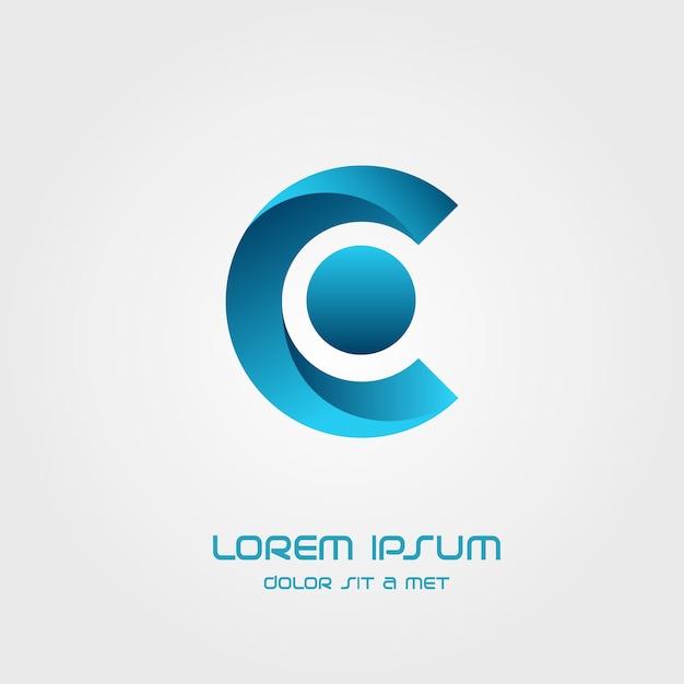 Letter c logo icon design template elements Premium Vector