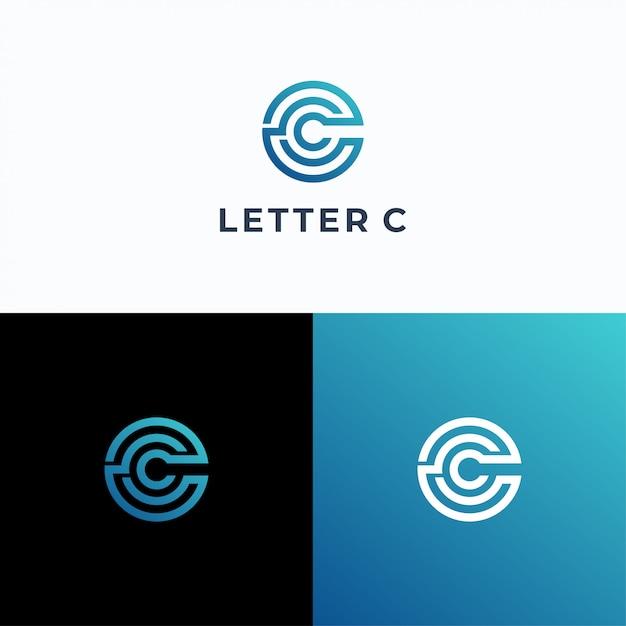 Letter c logotype vector template Premium Vector