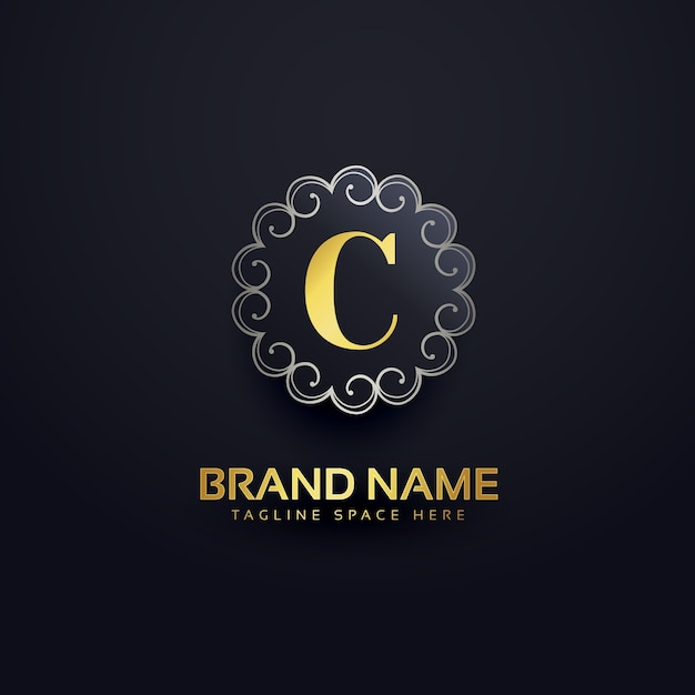 letter c luxury logo vector free download