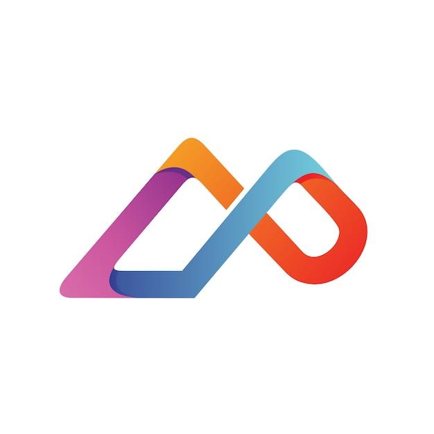 Letter c and p logo vector Premium Vector