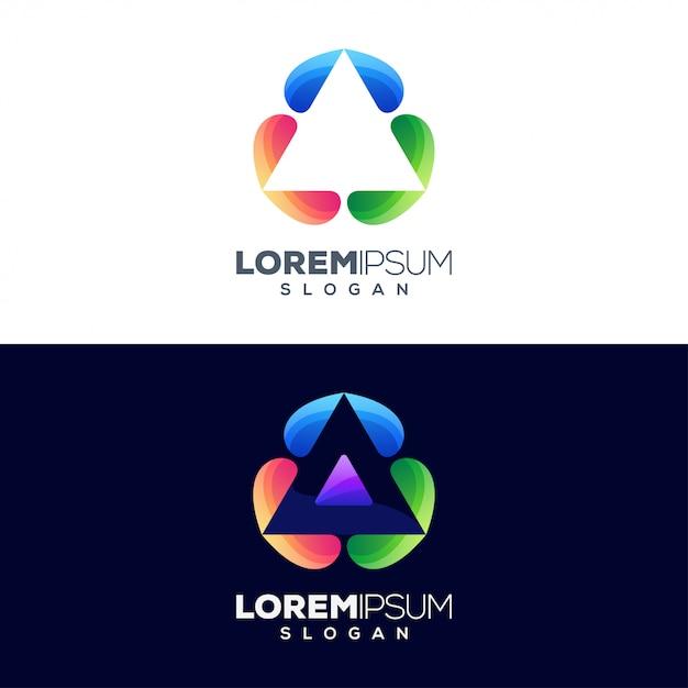 Letter A Colorful Logo Design