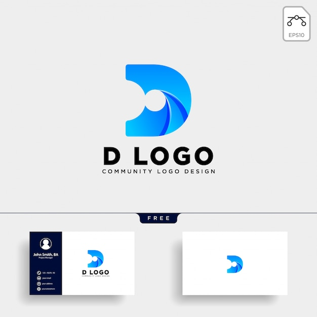 Letter D Templates.Letter D Human Logo Template Icon Isolated Vector Premium
