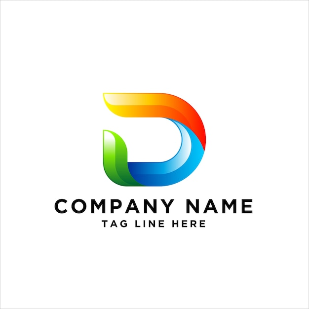 Letter d logo design Premium Vector