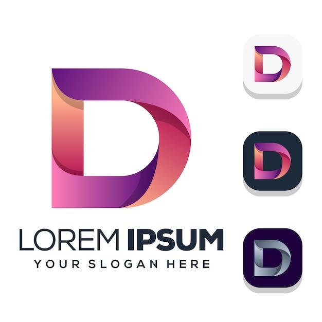 Шаблон логотипа буква d Premium векторы