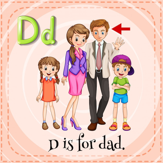 Letter d Free Vector