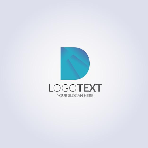 Логотип letter d Premium векторы