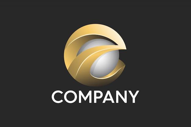 Letter e abstract professional 3d logo Premium Vector