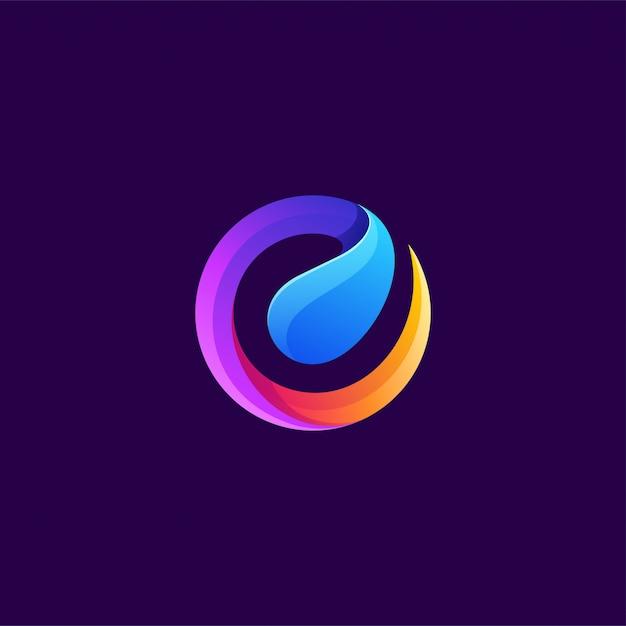 Letter e logo design vector illustration Premium Vector