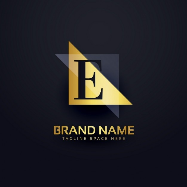 letter e logo in modern style vector free download