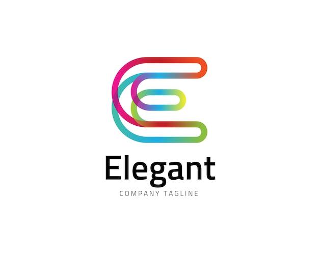 Letter e logo Premium Vector