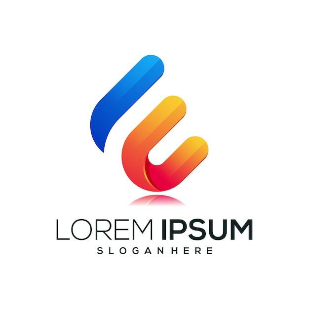 Letter e new logo icon Premium Vector