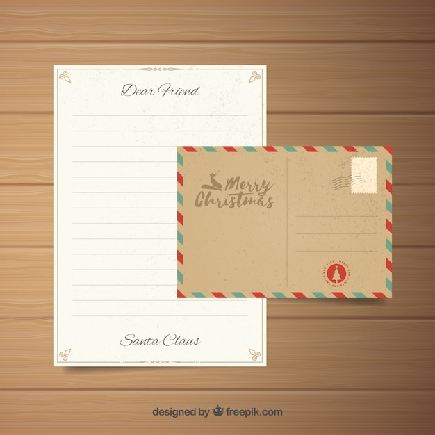 Letter In An Envelope Vintage Template Vector