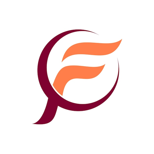Letter F Initial Logo Vector Premium Download