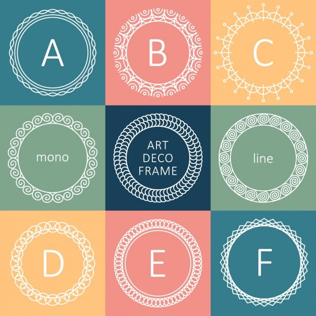 Letter Frame Collection Vector | Free Download