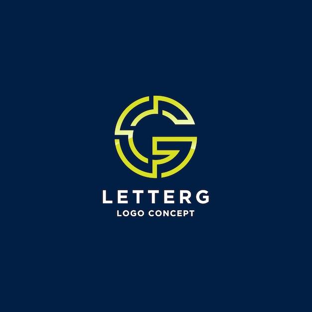 Letter g line logotype Premium Vector