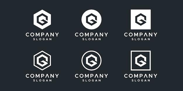 文字gロゴデザインベクトル Premiumベクター