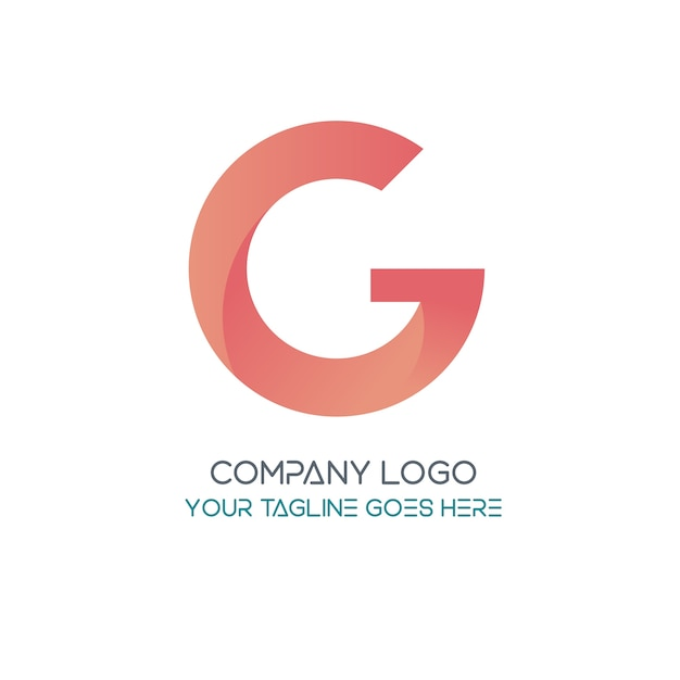 letter g logo template vector free download