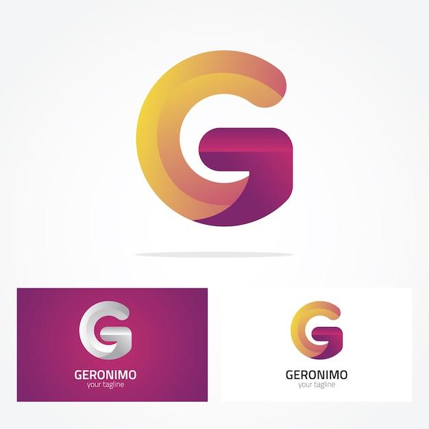 Дизайн логотипа letter g Бесплатные векторы