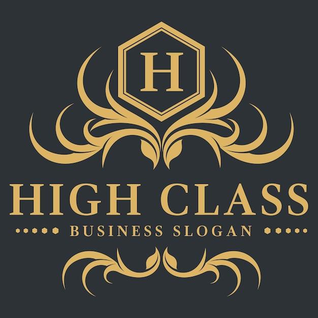 Luxury Letter H Logo: Letter H - High Class Luxury Logo Template