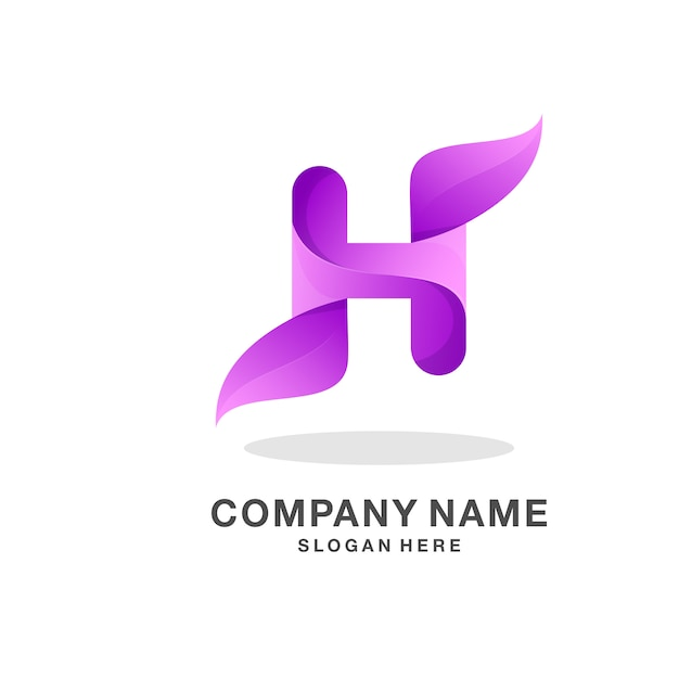 Letter h logo Premium Vector