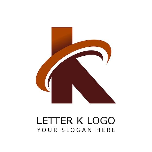 Letter k circle logo Premium векторы