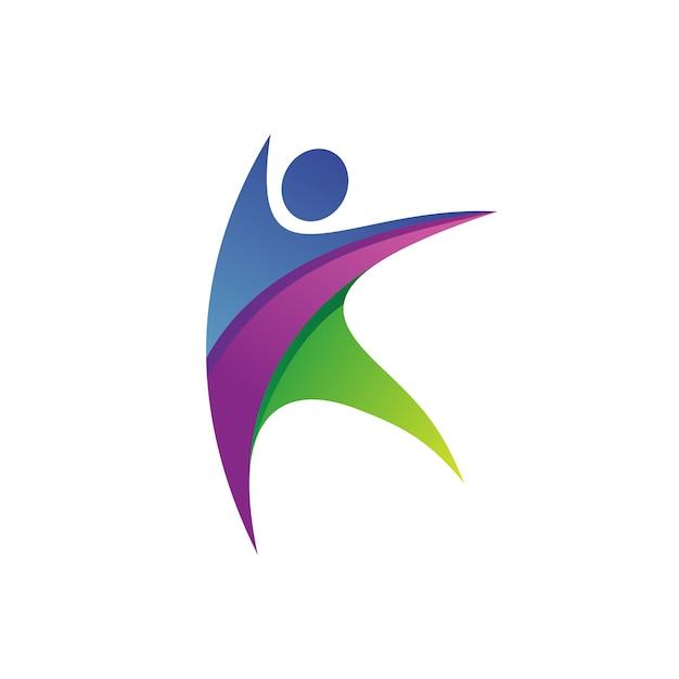 Letter k people logo vector Premium Vector