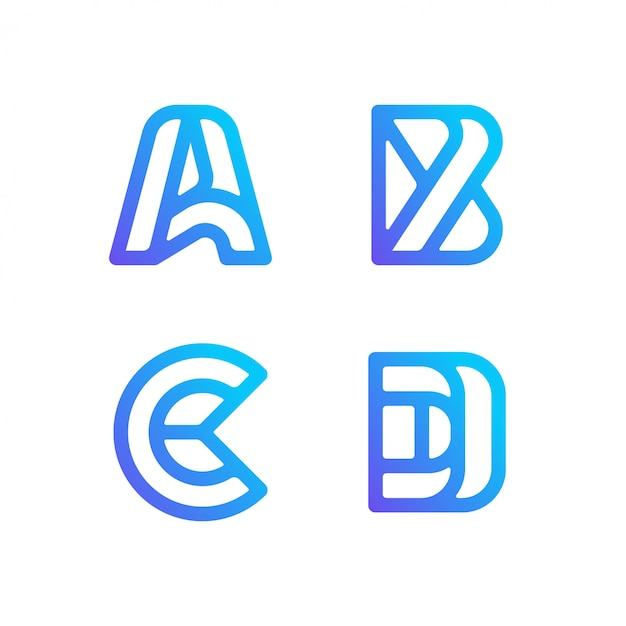 Letter logo collection Premium Vector