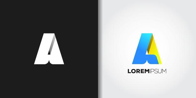 Letter a logo set Premium Vector
