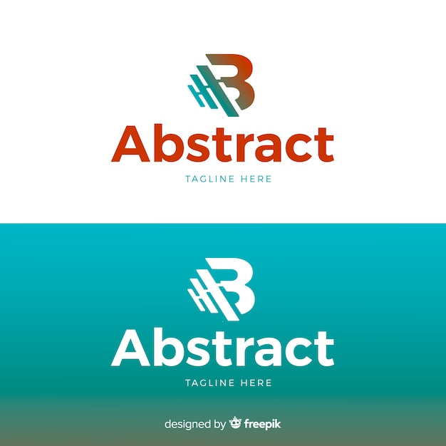 Letter logo template for light and dark background Free Vector