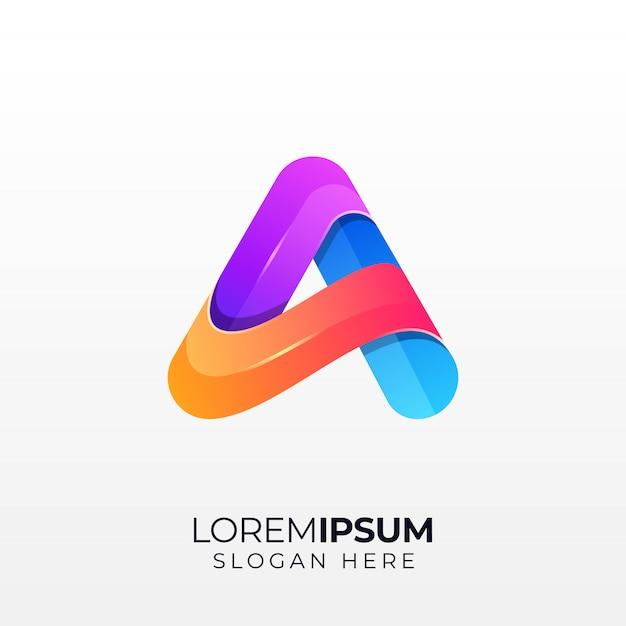 Letter a logo Premium Vector