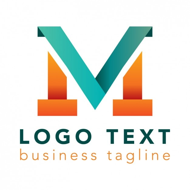 Letter M Logo Bright Colors Vector  Free Download