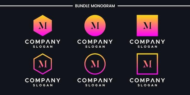 Letter m logo design Premium Vector